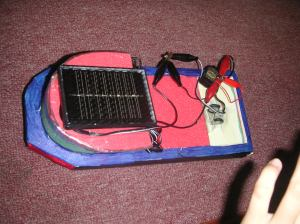 An example of a solar boat