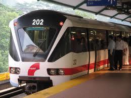menaiki LRT ke SMK Perempuan Pudu