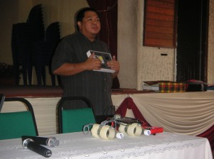 During briefing