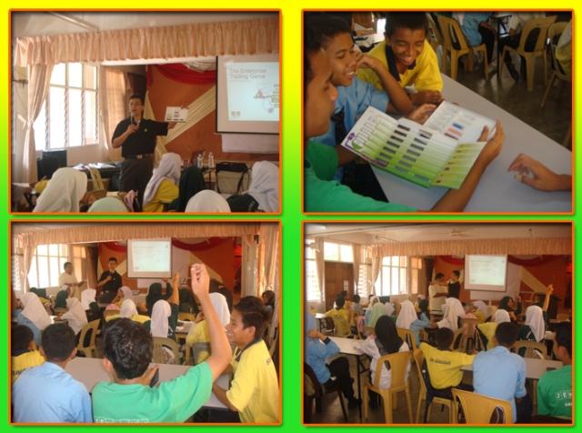 En. zul memberi penerangan, sesekali pelajar mengangkat tangan untuk bertanya